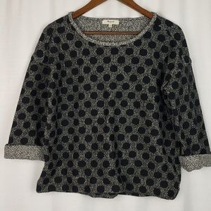Madewell Polka Dot Knit Top Size Small